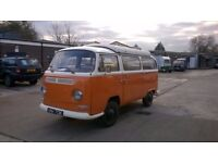 1971 early bay window T2 camper van long MOT recon engine RIGHT hand drive. transporter