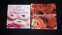 2 baking recipe books
