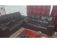 3 & 2 seaters leather sofa for pick-up from central Eastleigh