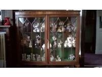 victorian mahogany glass display cabinet