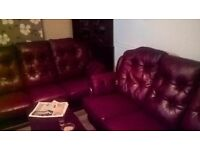 3 seater Chesterfield Oxblood Leather sofa