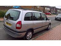 Vauxhall Zafira Design, 7 Seater, 1.8 litre, 2004, Mot April 2017, Full service history