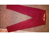 designer womens 7 for all mankind red trousers waist 25