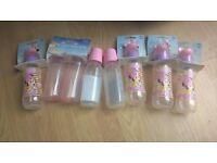 Joblot baby girl bottles dummies all new
