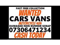 ♻️ SELL MY CAR VAN BIKE CASH ON COLLECTION SCRAP DAMAGED NON RUNNING WANTED COLLECT TODAY E3
