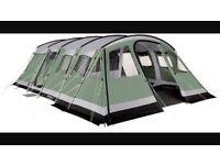 Outwell Vermont XL Tent, footprint groundsheet and carpet.
