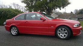 BMW 320 CI, coupe, red 2002, E46, manual with 1 year MOT