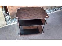 Small glass and chrome TV stand