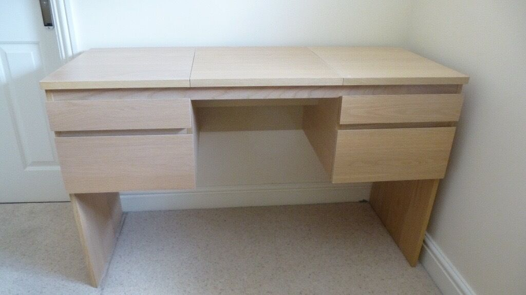 DRESSING TABLE IKEA RANSBY In WHITE STAINED OAK SOLDSOLD - White dressing table ikea