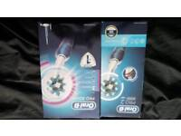 2 brandfire new oral b electric toothbrushes
