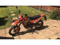 £1200 ONO! Sinnis Apache 124cc 2016 Plate (Really Low Millage)