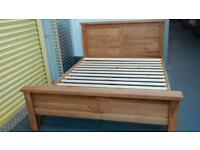 Solid Oak king sized bed frame