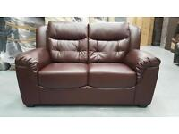 GT138 CLEARANCE SPECIAL DISCOUNT ** 2 Seater Leather brown brand new. VERY CHEAP!!