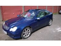 Mercedes Coupe 2.2 Diesel Automatic for sale. Working but No MOT spares or repair or project.