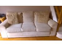 Light Beige Material Sofa
