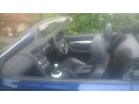 years m.o.t mgf low miles 1.8 engine new alloys new cd player