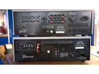 PIONEER QUALITY MATCHING VINTAGE POWER AMPLIFIER AND TUNER as two discrete units
