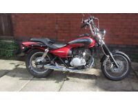 Kawasaki Eliminator BN125. 2001. Chopper /Bobber Cruiser. 12Months MOT. Learner legal ..with Style