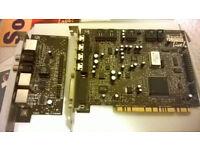 SOUND BLASTER LIVE! PCI SOUND CARD(CT4620) DAUGHTER BOARD(CT4660)ORIGINAL SW BUNDLE