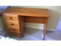 Pine effect desk and study chair