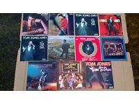 10x TOM JONES RECORD COLLECTION TOM JONES RECORDS TOM JONES LP TOM JONES ALBUM COLLECTION OF 10 TOM