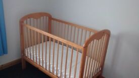 Cot and Matress good condition
