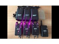 3 x delkim txi plus alarms carp fishing