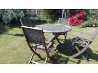Garden/patio wooden furniture set.
