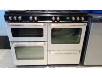 Rangemaster 110 dual fuel range cooker in cream