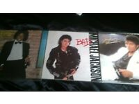 michael jackson x3 vinyl lps near mint condition covers & record,in protective sleeves, !
