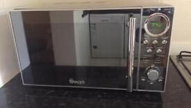 Swan Microwave with mirror front, very stylish.