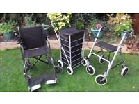 Wheelchair + Walker + shopping Trolley - or sell individually, make an offer