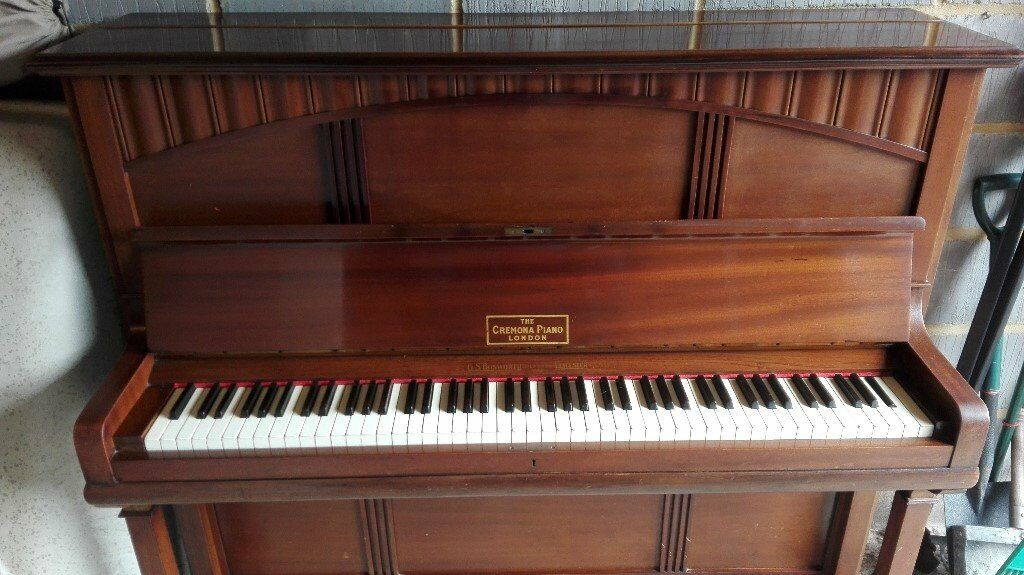 Piano, free to collect. Upright, The Cremona Piano. Regularly tuned until the last twelve months.
