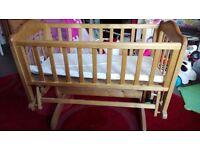 Beautiful gliding crib