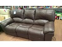 Electric recliner 3 seat leather sofa