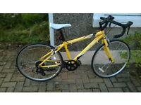Boy's road bike, Halfords Apollo, hardly used