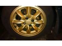 "Mx5 Gold Panasport 14"" wheels very rare"