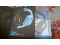 Logitech G930 wireless gameing headphones