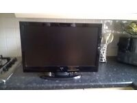 """22"""" ALBA LED TV BUILTIN DVD FREEVIEW HD USB GREAT WORKING ORDER WITH REMOTE CAN DELIVER BARGAIN"""
