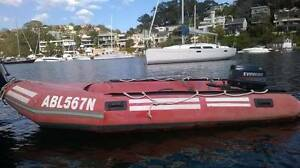 Inflatable 12 ft Achilles surfboat with 25 hp Envinrude outboard Cammeray North Sydney Area Preview