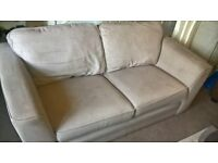 Light grey sofa with removable covers