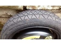 VW Up spare wheel with Continental tyre,
