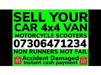 ♻️ SELL MY CAR VAN 4x4 CASH WAITING ANY CONDITION WANTED DAMAGED SCRAP NO MOT COLLECT TODAY E7