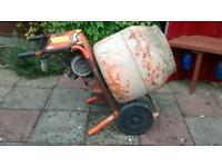 Belle minimix 150 110v electric cement concrete mixer and stand drum perfect