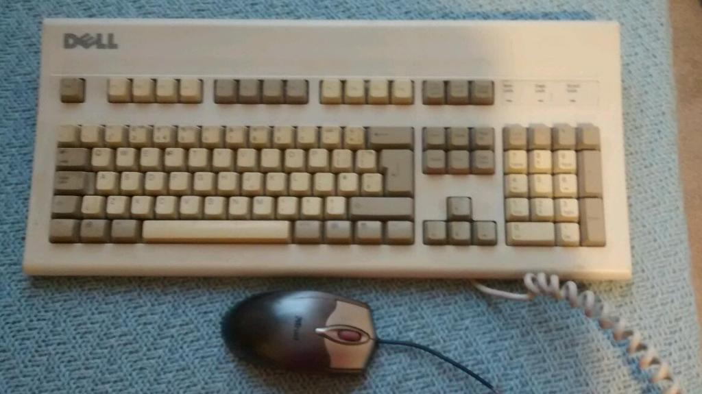 Old School Dell Keyboard And Trust Mouse Free In