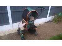 NICE COMBINATION PUSHCHAIR , BABY CARRIER IDEAL HIKING , AIRPORTS , HOLIDAYS ECT