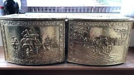 Brass Coal Boxes