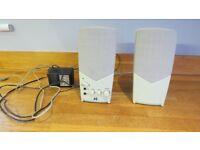 J S DC 3V SPEAKERS COMPUTER AUDIO DESKTOP LAPTOP SOUND SYSTEM PC USED