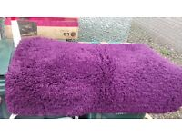 2 600 x 1100 mm thick cozy rugs Purple as new