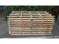 9 large pallets ideal for making garden furniture or shed excellent condition collection only!!